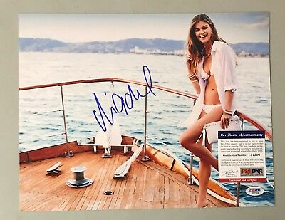 Nina Agdal Signed 11x14 Photo AUTO Autograph PSA/DNA COA