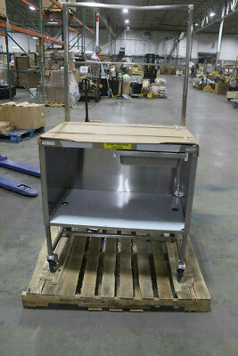 Winholt 36 in W x 24 in D Stainless Rolling Table w/Lower Shelf and Drawer Pan