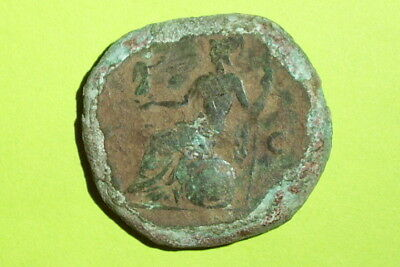 HUGE Ancient ROMAN COIN of MARCUS AURELIUS 139 AD goddess ROMA old large big AE