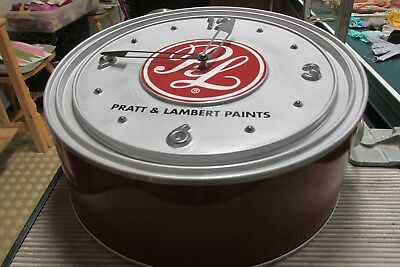 Pratt & Lambert Wall Clock Advertisment Looks Like Paint Can!
