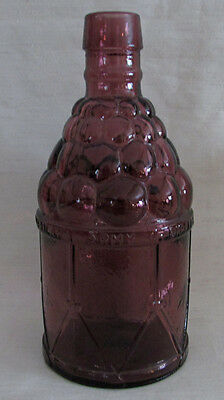 Vintage McGivers American Army Bitters Glass Bottle, Amethyst, Wheaton NJ