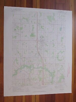Leslie Michigan 1973 Original Vintage USGS Topo Map