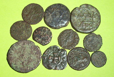 COLLECTION Ancient ROMAN - MEDIEVAL COINS 100 AD-1600's old lot treasure money