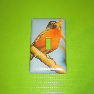 NATIVE Northern Red Robin WILD BIRD LIGHT SWITCH COVER PLATE #4