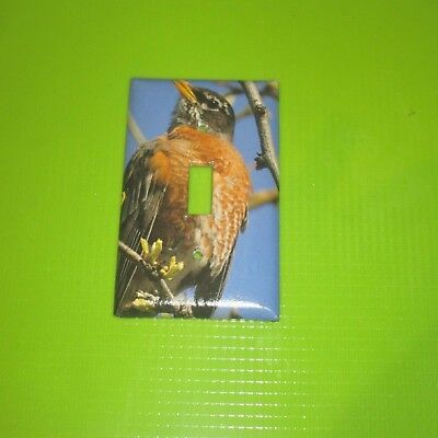 NATIVE Northern Red Robin WILD BIRD LIGHT SWITCH COVER PLATE #5