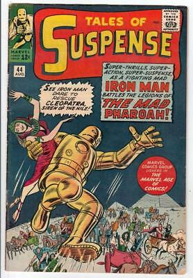 Tales of Suspense # 44 strict FN 1st Mad Pharoah Golden Iron Man Wow 40% off