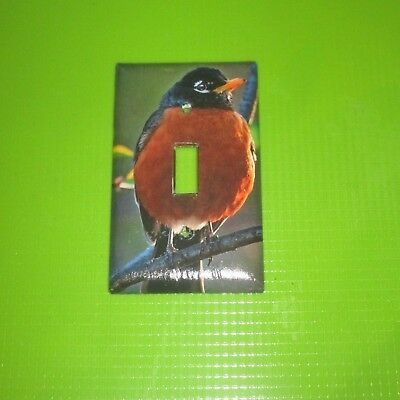 NATIVE Northern Red Robin WILD BIRD LIGHT SWITCH COVER PLATE #7