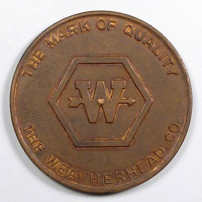 The Weatherhead Co. (Cleveland, OH) advertising token spinner auto part supplier