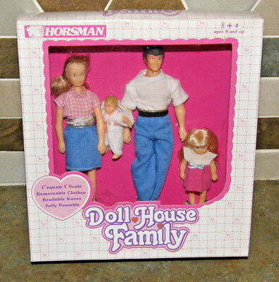 Vintage Horsman Doll House Family NEW in Original Box Unused Bendable Posable 4+