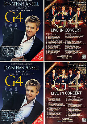 G4 Live In Concert 2017 Flyers + 2011 Jonathan Ansell Tour Flyers