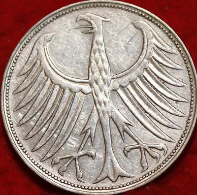 1963 Germany 5 Mark Silver Foreign Coin