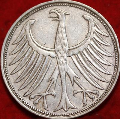 1964 Germany 5 Mark Silver Foreign Coin
