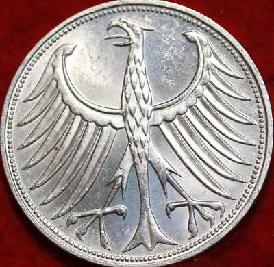 1972-F Germany 5 Mark Silver Foreign Coin