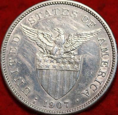 1907-S Philippines One Peso Silver Foreign Coin