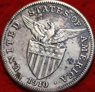 1910-S Philippines One Peso Silver Foreign Coin