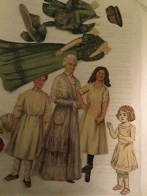 Antique Victorian paper doll Dress Hat military twins Betsy McCall dog hats rare