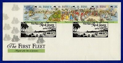 Australia Post 1987 Sc #1027 Bicentennial First Fleet at Rio FDC First Day Cover