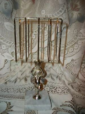 Italian Marble Chic Cherub Letter Towel Holder Shabby French Paris Apt Cottage
