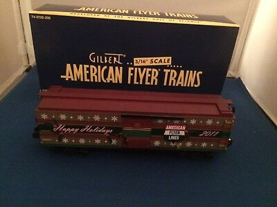 American Flyer 48394 2011 Christmas Holiday Boxcar New in Box S Gauge