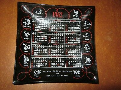 Nevada Lodge/ Nevada Club  1962 Calendar Ashtray