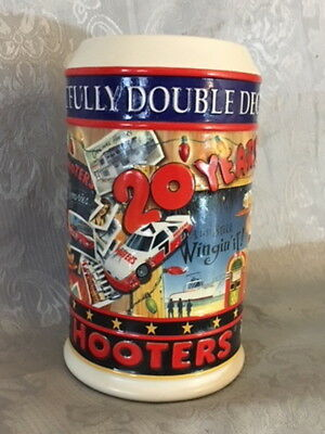 Hooters 20Th Anniversary Mug Cup 1983-2003 Ceramic Pottery Embossed Girlie