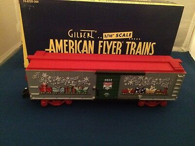 American Flyer 48825 2012 Holiday Christmas Boxcar New in Box S Gauge
