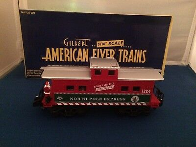 American Flyer 49062 Route of the Reindeer Animated Caboose #1224 New S Gauge