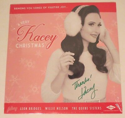 kacey musgraves country real hand signed a very kacey christmas vinyl lp 1 coa