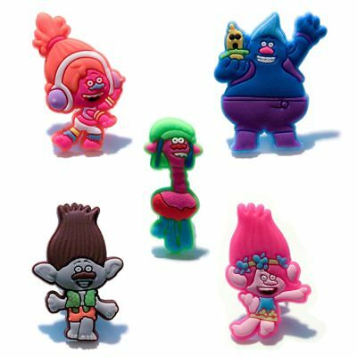 20pcs Lot Trolls PVC Shoes Charms fit for Croc & Jibbitz Wristbands Party Gift