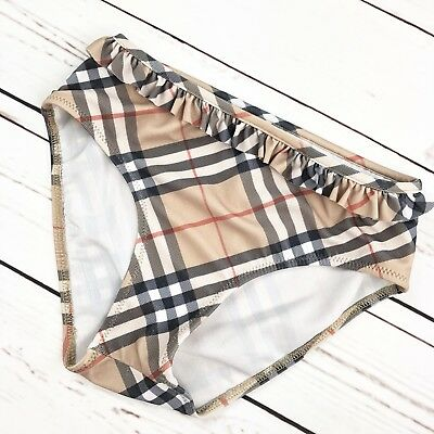 Burberry Children Swim Bottom Brown Plaid Nova Check Girls Kids Size 8Y