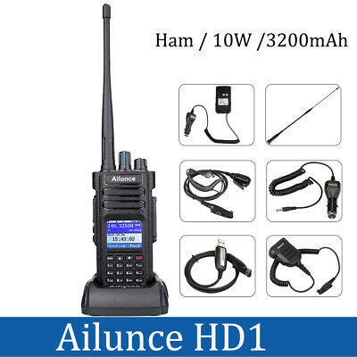 Ailunce HD1 Dual Band DMR Amateur Digital DCDM TDMA HAM Two way Radio 3000CH AU