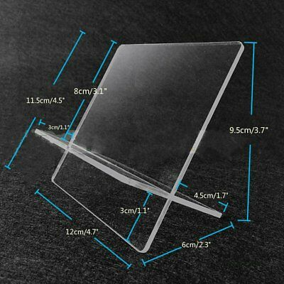 4 x Clear Acrylic Retail Shop Display Stand Holder Purse Multi Purpose 12cm