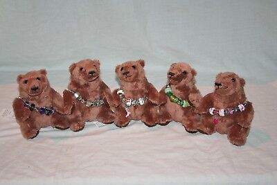 Wholesale job lot shop clearance Small Teddy Bear With Childs Charm Bracelet x60