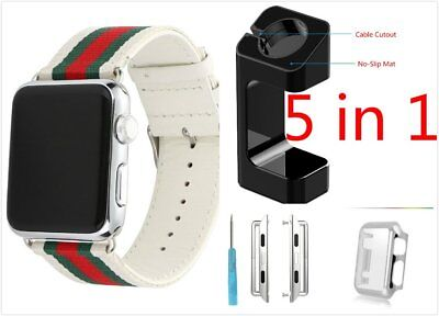 5 in 1 White Mix Colour Woven Band Case Adapter For Apple Watch 38mm