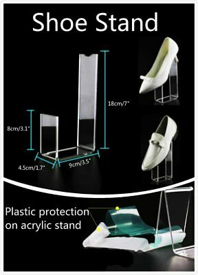 4x 18cm Height Protective Clear Acrylic Display Stand Shoes Retail Rack Holder