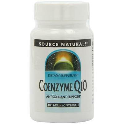 Source Naturals Coenzyme Q10 100 mg, Energizer and Antioxidant,60 Softgels