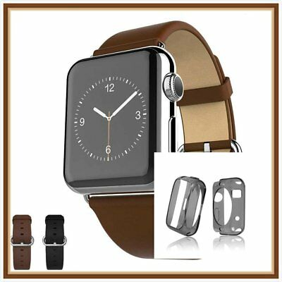 Brown Luxury Leather Band Strap Bracelet Classic For  Apple Watch 42mm Case  1