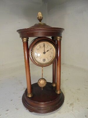 Antique  Portico Mantel  Clock  ,