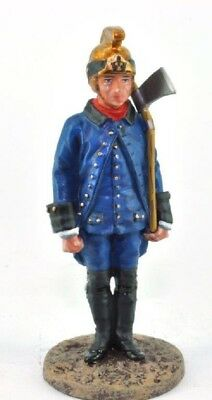 Firefighter Figurine Fireman Paris France 1786 Metal Del Prado 1/32 2.75""