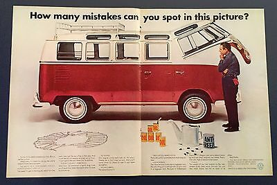 How many mistakes can you spot in this picture Volkswagen Advertisement 1967
