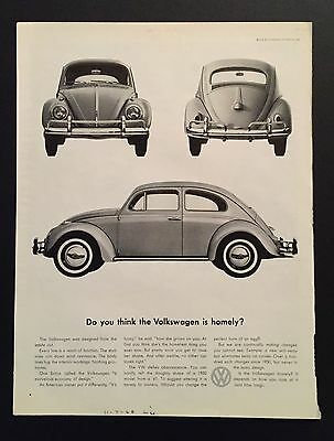 Do you think the Volkswagen is homely Advertisement 1960