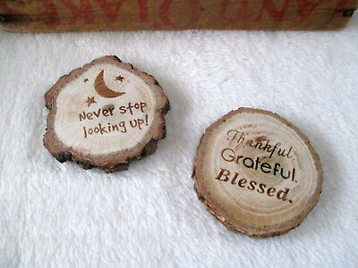 Insprirational Tree Branch Slice Magnets (Lot of 2) Spirtual Well Being NEW