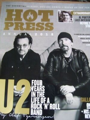 HOT PRESS U2 ANNUAL 2018 COVER-rock-irish-ALBUMS MOVIES BOOKS OF THE YEAR-BONO