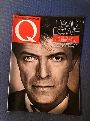 Q  Magazine  March  2016  DAVID BOWIE 35 PAGE TRIBUTE