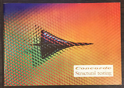"""BROCHURE CONCORDE Structural testing, """"Aérospatiale & B.A.C"""", May 1974, 36 pages"""