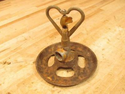 Vintage Cast Iron Garden Lawn Sprinkler Heart Spinner Irrigation SteamPunk Light