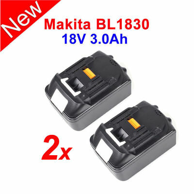 2x Lithium Ion Replace Battery 18V 3.0AH For Makita BL1830 BL1815 BL1835 LXT400