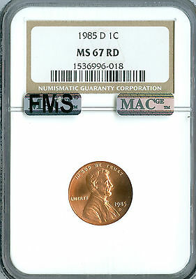 1993-D LINCOLN CENT NGC MS67 PQ CHERRY RED  *