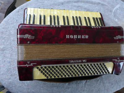 historisches Hohner Tango Musette Akkordeon Tango VC, funktionsfähig