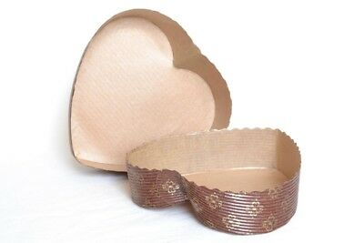 Heart Shaped Paper Bake In Disposable Baking Mould Tray Pan For Valentine Cakes